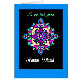 Tarjeta de felicitación de Diwali para un mejor