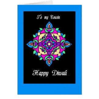 Tarjeta de felicitación de Diwali para un primo