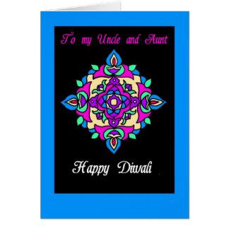 Tarjeta de felicitación de Diwali para una tía y
