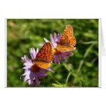 Tarjeta de felicitación de dos mariposas