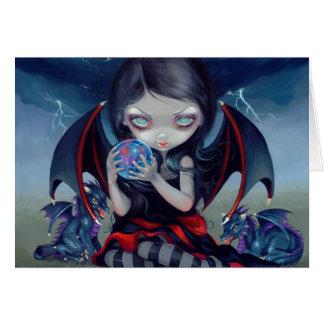 "Tarjeta de felicitación de ""Dragonling oscuro"""