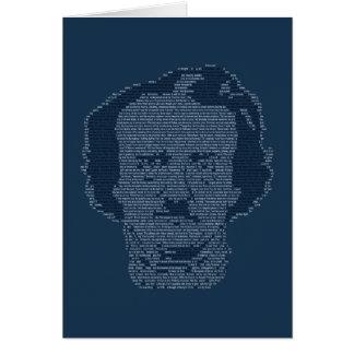 Tarjeta de felicitación de Edgar Allen Poe