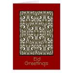 Tarjeta de felicitación de Eid del Arabesque