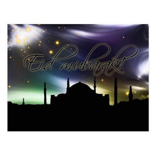 Tarjeta de felicitación de Eid Mubarak Tarjeta Postal
