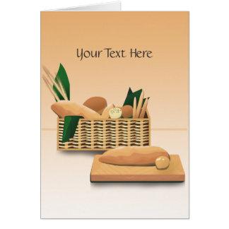 Tarjeta de felicitación de encargo cocida del pan