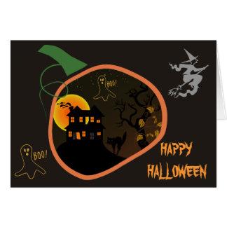 Tarjeta de felicitación de encargo de Halloween de