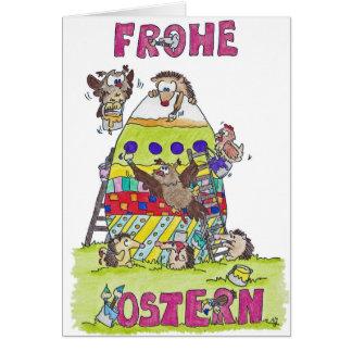 Tarjeta de felicitación de FROHE OSTERN de Nicole