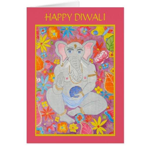Tarjeta de felicitación de Ganesh Diwali