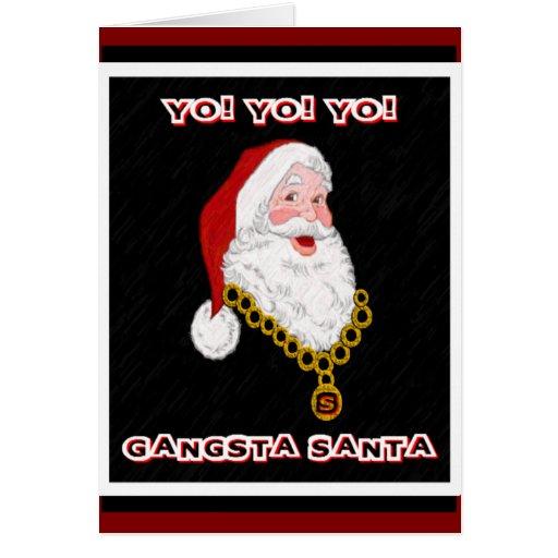 Tarjeta de felicitación de Gangsta Santa