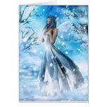 Tarjeta de felicitación de hadas de la nieve