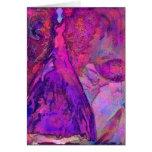 Tarjeta de felicitación de hadas del jardín rosado