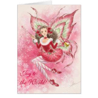 Tarjeta de felicitación de hadas del navidad