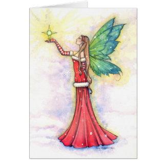 Tarjeta de felicitación de hadas del navidad por