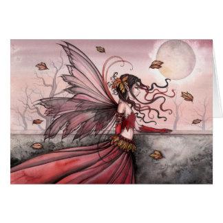 Tarjeta de felicitación de hadas del otoño por Mol