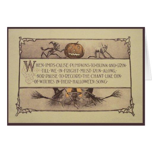 Tarjeta de felicitación de Halloween