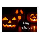 Tarjeta de felicitación de Halloween de la lintern