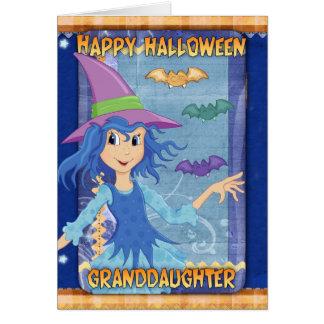 tarjeta de felicitación de Halloween de la nieta