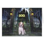 Tarjeta de felicitación de Halloween del beagle