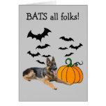 Tarjeta de felicitación de Halloween del pastor al
