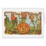 ¡Tarjeta de felicitación de Halloween del vintage