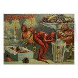 Tarjeta de felicitación de Halloween del vintage -