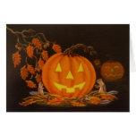 Tarjeta de felicitación de Halloween, Jack-O-Linte