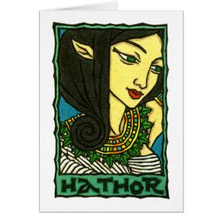 Tarjeta de felicitación de Hathor