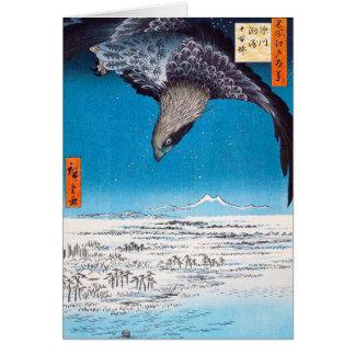 Tarjeta de felicitación de Hiroshige Eagle