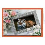 Tarjeta de felicitación de Holidat del tigre y tar