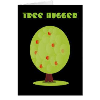Tarjeta de felicitación de Hugger del árbol