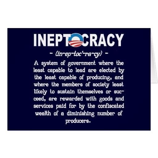 Tarjeta de felicitación de Ineptocracy de la admin