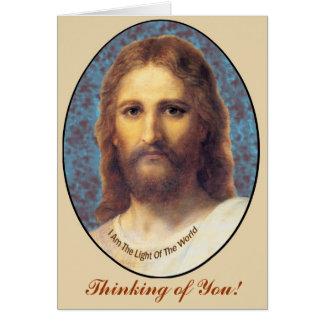 Tarjeta de felicitación de Jesús - condolencia