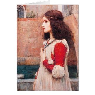 Tarjeta de felicitación de Juliet del Waterhouse