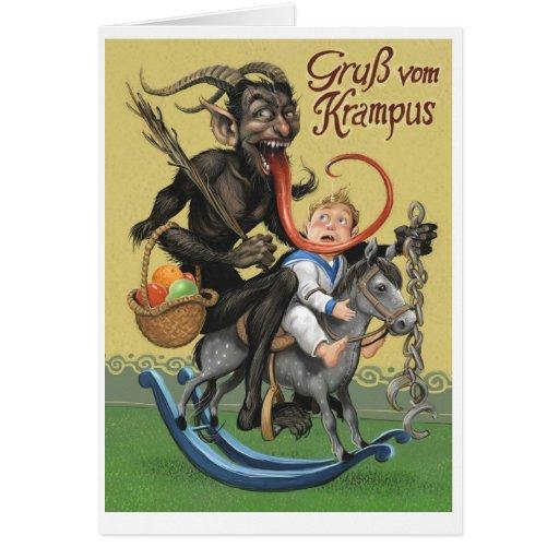 Tarjeta de felicitación de Krampus