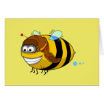 Tarjeta de felicitación de la abeja