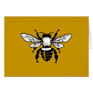 Tarjeta de felicitación de la abeja de Mellifera d
