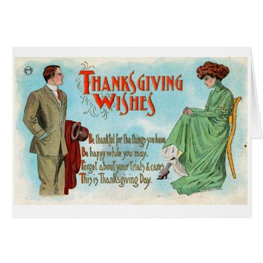 Tarjeta de felicitación de la acción de gracias