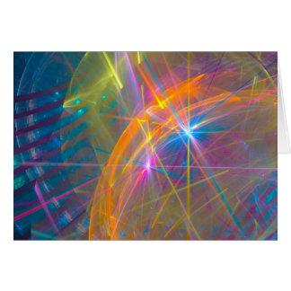 Tarjeta de felicitación de la alameda del laser