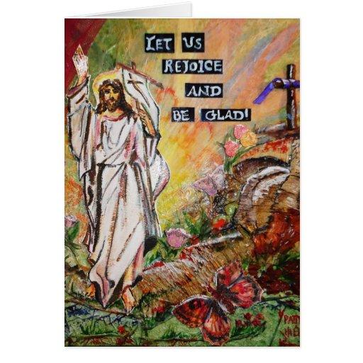 Tarjeta de felicitación de la alegría de Pascua