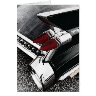 Tarjeta de felicitación de la aleta de Cadillac