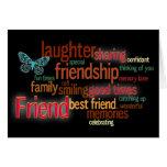 Tarjeta de felicitación de la amistad