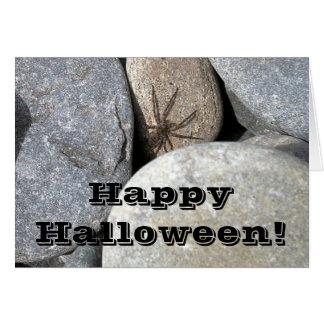 Tarjeta de felicitación de la araña de la roca