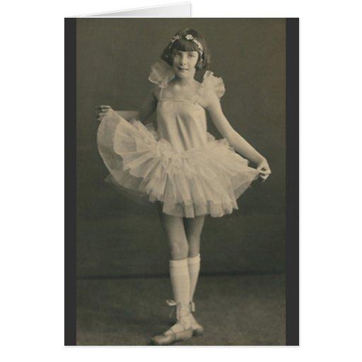 tarjeta de felicitación de la bailarina