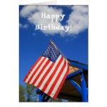 Tarjeta de felicitación de la bandera americana de