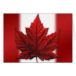 Tarjeta de felicitación de la bandera de Canadá de