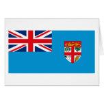 Tarjeta de felicitación de la bandera de Fiji