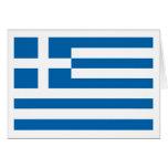 Tarjeta de felicitación de la bandera de Grecia