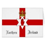 Tarjeta de felicitación de la bandera de Irlanda d