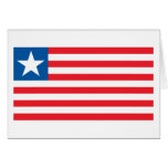 Tarjeta de felicitación de la bandera de Liberia
