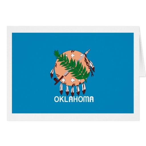 Tarjeta de felicitación de la bandera de Oklahoma